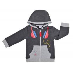 Chaqueta con capucha niño auriculares-YATSI