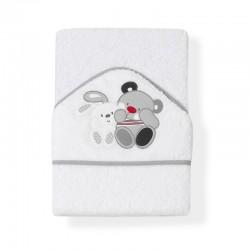 Capa de baño 1 x 1 mt mod amigos- 100 % algodon-IBI-01052-18/19/31-Interbaby