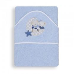 Capa de baño 1 x 1 mt mod osito amoroso 100% algodon-IBI-01145-01/02/12-Interbaby
