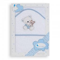 Capa de baño 1 x 1 mt mod osito columpio 100% algodon-IBI-01187-01/11-Interbaby