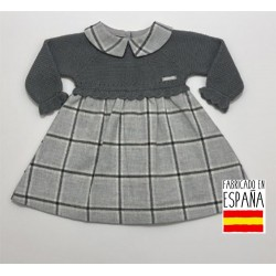 Vestido punto tela cuadros-PBI-4039-Primbaby