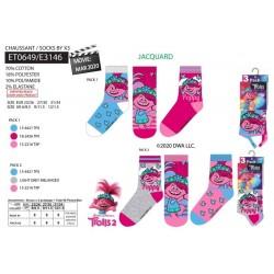 Pack de 3 calcetines-SCI-ET0649-TROLLS