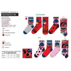 Pack de 3 calcetines-SCI-HS0704-LADY BUG