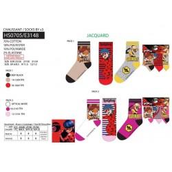 Pack de 3 calcetines-SCI-HS0705-LADY BUG