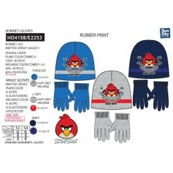 Set 2 piezas gorro y guantes-SCI-HO4158-ANGRY BIRD