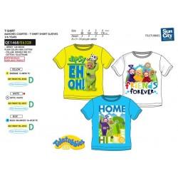 Camiseta manga corta algodón-SCI-QE1468-TELETUBBIE