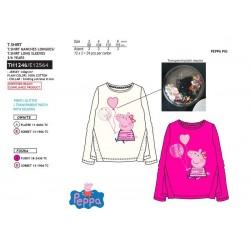 Camiseta manga larga algodón-SCI-TH1246-PEPPA PIG