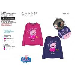 Camiseta manga larga algodón-SCI-TH1249-PEPPA PIG