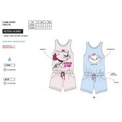 Mono-pijama corto de algodón-SCI-SE3561-MARIE
