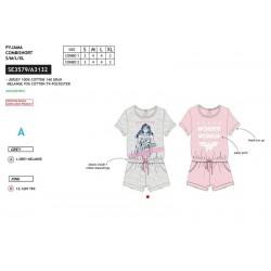 Mono-pijama corto de algodón-SCI-SE3579-WONDER WOM