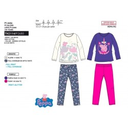 Pijama largo algodón-SCI-TH2114-PEPPA PIG