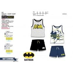 Conjunto camiseta tirantes + short algodón-SCI-ET1214-BATMAN