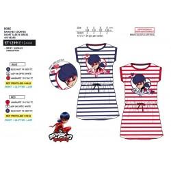 Vestido manga corta cintura elástica-SCI-ET1299-LADY BUG