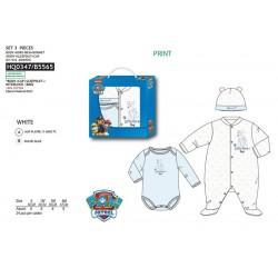 Set 3 piezas bebé, body + gorro-SCI-HQ0347-PAW PATROL
