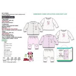 Conjunto tres piezas, blusa + cardigan + pantalón-SCI-HQ0032-MINNIE