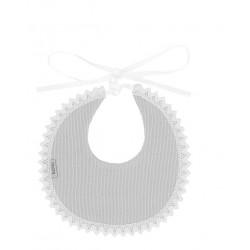 Babero redondo puntilla canutillo-BDI-605-Babidú