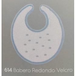 Babero redondo velcro perritos-coronas-estrellitas-BDI-614-Babidú