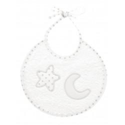 Babero redondo cinta estrella-luna-BDI-633-Babidú