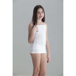 Camiseta interior niña tirante fino calado corazones-BDI-702-Punt Nou
