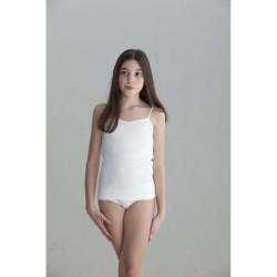 Camiseta interior niña tirante fino canale 1x1-BDI-703-Punt Nou