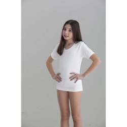 Camiseta interior niña manga corta canale 1x1-BDI-7004-Punt Nou