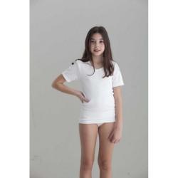 Camiseta interior niña felpa manga corta-BDI-705-Punt Nou