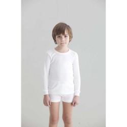 Camiseta interior niño manga larga canalé 1x1-BDI-8007-Punt Nou