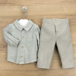 Conj. pantalón largo + camisa c/camisero vigo-BDI-44301-Babidú