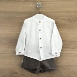 Conj. pantalón corto + camisa c/mao salamanca-BDI-44335-Babidú
