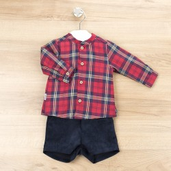 Conj. pantalón corto + camisa c/mao bilbao-BDI-44347-Babidú