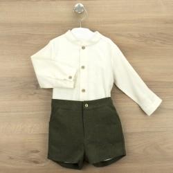 Conj. pantalón corto + camisa c/mao madrid-BDI-44362-Babidú