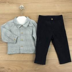 Conj. pantalón largo + camisa c/polo malaga-BDI-44387-Babidú