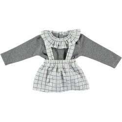 Conjunto cuello volante + falda tirantes nueva york-BDI-44451-Babidú