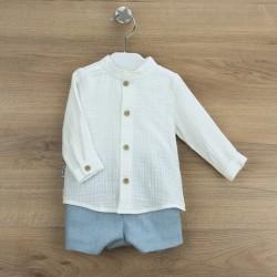 Conj. pantalón corto + camisa c/mao granada-BDI-45303-Babidú