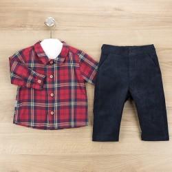 Conj. pantalón largo + camisa c/pico bilbao-BDI-45347-Babidú