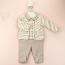Conj. polaina c/bebé rayas-BDI-52157-Babidú