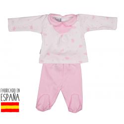 Conjunto c/bebe babero nubes-BDI-52179-Babidú