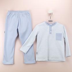Pijama niño tapeta rayas-BDI-71157-Babidú