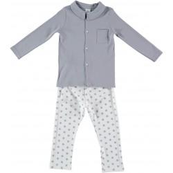 Pijama niño cuello pico estrellas-BDI-72114-Babidú