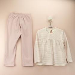 Pijama niña canesú rayas-BDI-72157-Babidú