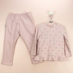 Pijama niña volante paraguas-BDI-72177-Babidú