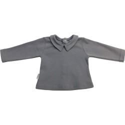 Camiseta cuello pico interlock manga larga-BDI-82143-Babidú