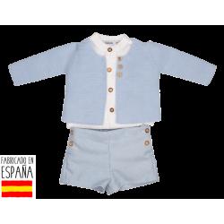 Conj. pantalon corto + camisa c/mao lucca-BDI-45255C-Babidú
