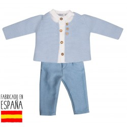 Conj. pantalon largo + camisa c/mao lucca-BDI-48255C-Babidú