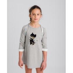 Vestido sudadera gris gato-LOI-1045262901-La Ormiga