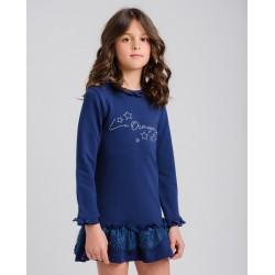 Vestido sudadera marino laormiga-LOI-1045260602-La Ormiga