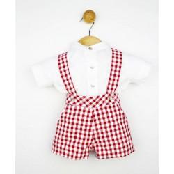Comprar ropa de niño online Conjunto bebé peto tirantes y