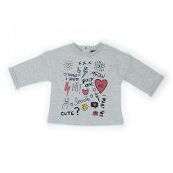 Comprar ropa de niño online Sudadera bebe niña unique, detalle