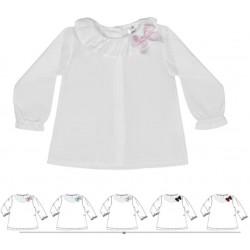 Comprar ropa de niño online Blusa bebé cuello volante detalle