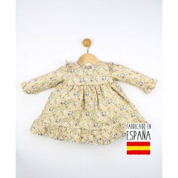 Vestido manga larga bebé estampado floral-TBI-23256-Tony Bambino